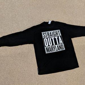 Long sleeve black t shirt